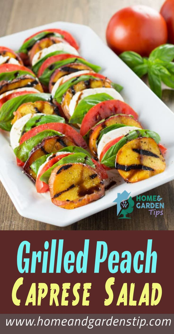 You are currently viewing Grilled Peach Caprese Salad