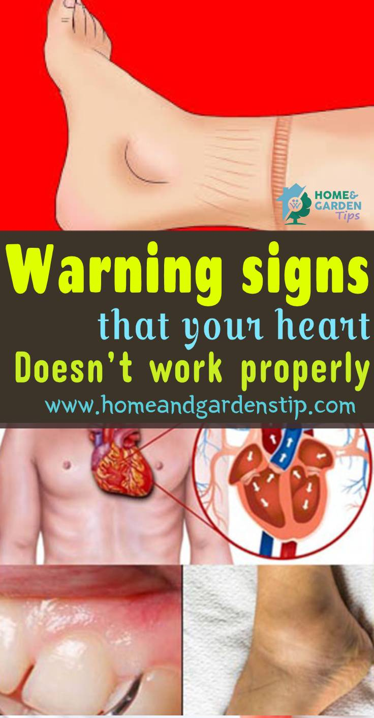 Warning signs that your heart doesn't work properly | Home and garden tip
