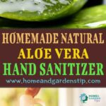 Homemade natural aloe vera hand sanitizer