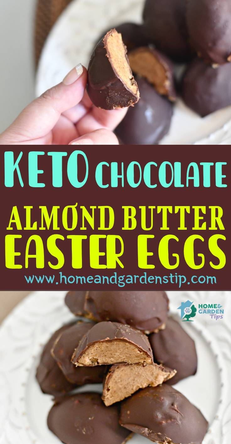 Keto chocolate almond butter easter eggs