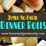 Jumbo No-Knead Dinner Rolls
