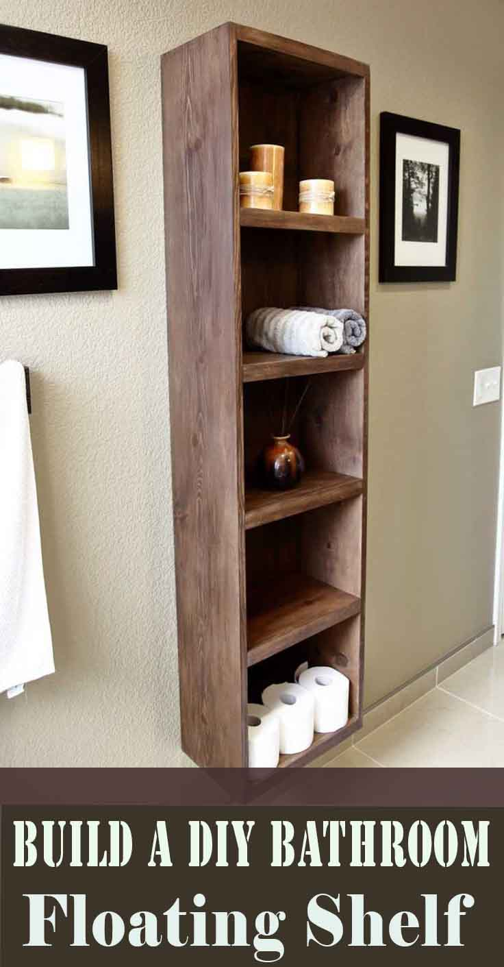How to Build a DIY Bathroom Floating Shelf
