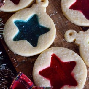 Stained Glass Ornament Cookies